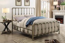 Micah Champagne Metal Queen Bed