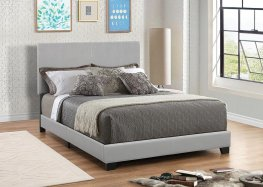 Dorian Grey Faux Leather Queen Bed