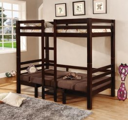 Joaquin Medium Brown Twin-over-Twin Bunk Bed