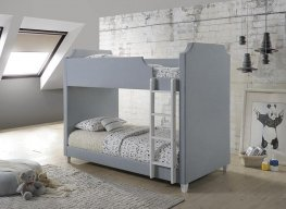 Gilroy Traditional Grey Twin-over-Twin Bunk Bed