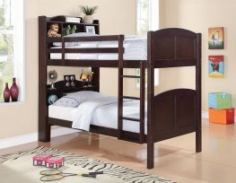 Parker Capp. Twin-over-Twin Bookcase Bunk Bed