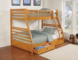 Ashton Light Honey Twin-over-Full Bunk Bed