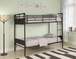 Beesly Industrial Twin-over-Twin Bunk Bed