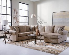 Fairhaven Cream Herringbone Sectional
