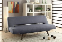 Mid-Century Grey Adjustable Sofa Bed
