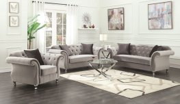 Frostine Grey Sofa & Love