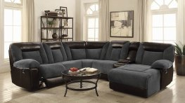 Cybele Casual Grey Motion Sectional