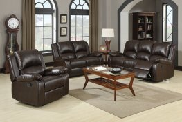 Boston Brown Reclining Sofa & Love