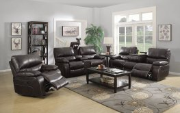 Willemse Chocolate Reclining Sofa & Love