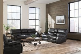 Willemse Dark Brown Reclining Sofa & Love