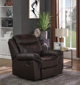 Sawyer Transitional Brown Glider Recliner