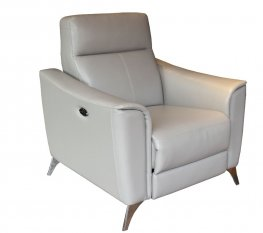 Alberta Light Grey Power Recliner