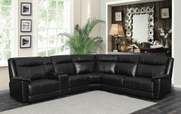 Cullen Black 6pcs Power Sectional