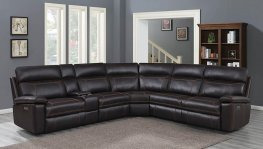 Albany Brown 6pcs Power2 Sectional