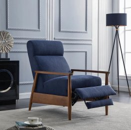 Navy Blue Push Back Recliner