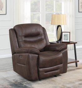 Hemer Chocolate Power2 Glider Recliner