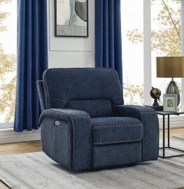 Groveland Navy Power2 Glider Recliner
