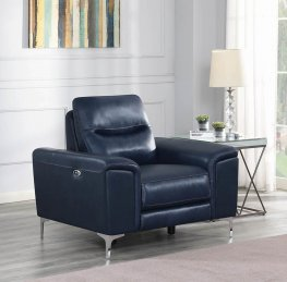 Largo Blue Power Recliner