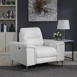 Largo White Power Recliner