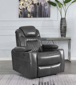 Korbach Charcoal Power2 Recliner