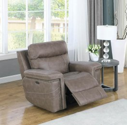Wixom Taupe Power2 Glider Recliner