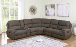Variel Taupe 6pcs Motion Sectional