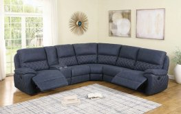 Variel Blue 6pcs Motion Sectional