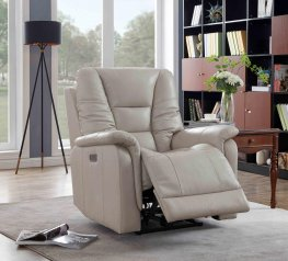 Cream Pillow Top Power3 Recliner