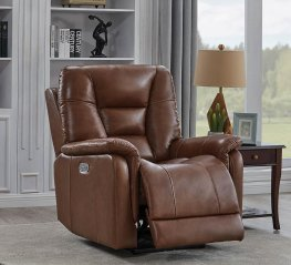 Chestnut Pillow Top Power3 Recliner