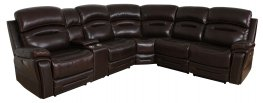 Amanda Dark Brown 6pcs Power3 Sectional