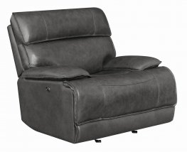 Standford Casual Charcoal Power Glider Recliner