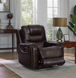 North Dark Brown Power2 Recliner