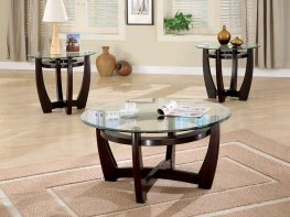 Contemporary Capp. Three-Piece Round Table Set