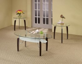 Occasional Table Sets Contemporary Capp. Round 3 Pc.