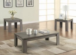 Occasional Tables Distressed Grey 3 Pc.