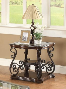 Occasional Traditional Dark Brown End Table