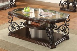 Occasional Traditional Dark Brown Coffee Table