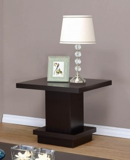 Capp. Wood Top Side Table