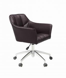 Modern Brown Upholstered Office Chair