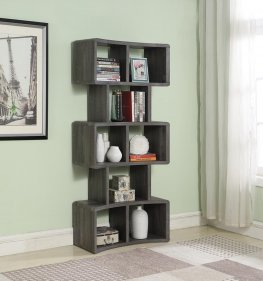 Weathered Grey 70in. Bookcase