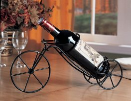 Transitional Black Bicycle Wine Rack