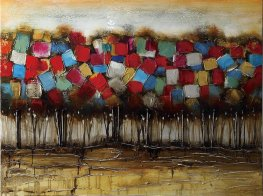 Patchwork Forest Casual Wall Art