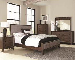 Bingham Retro E. King Bed Box One Headboard