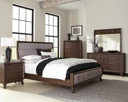 Bingham Retro-Modern Brown Cal. King Bed