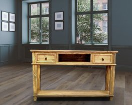 LT CID 153 Natural Sofa Table 2 Drawers