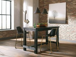 Bynum Rustic Black Counter Table