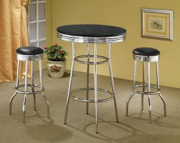 2405 - Contemporary Black Bar-Height Table