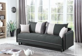 Casual Grey White Sofa Bed