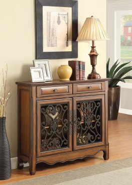 Traditional Warm Brown Two-Door Cabinet