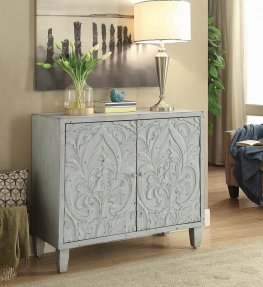 Transitional Grey Accent Cabinet